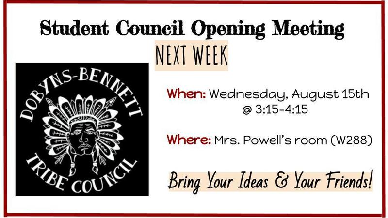Student Council Opening Meeting