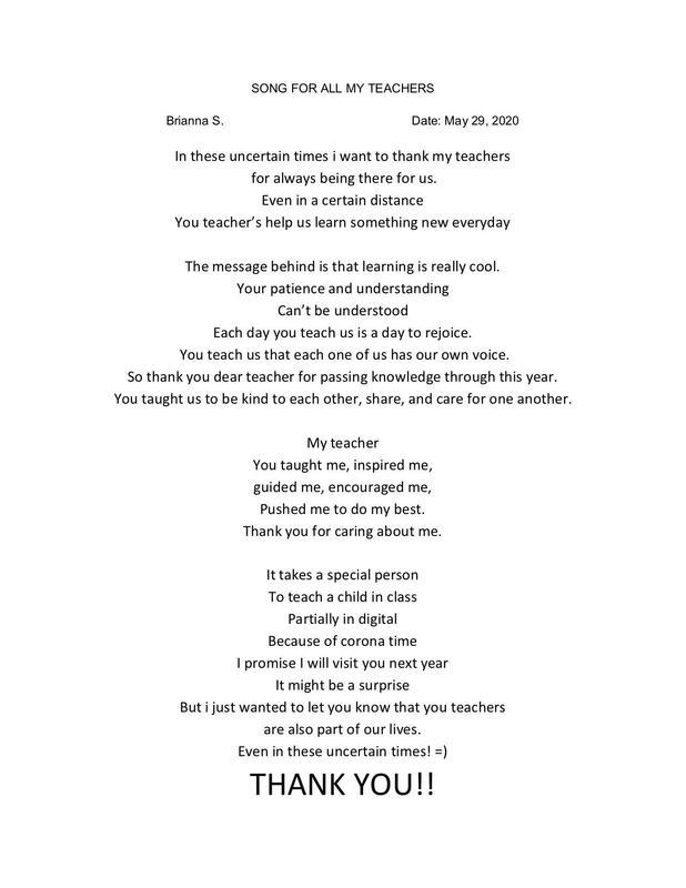 poem: songs for all my teachers