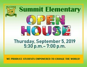 Summit Elementary Open House 2019
