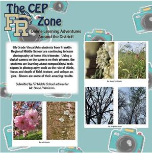 The CEP Zone card featuring 8th grade photography