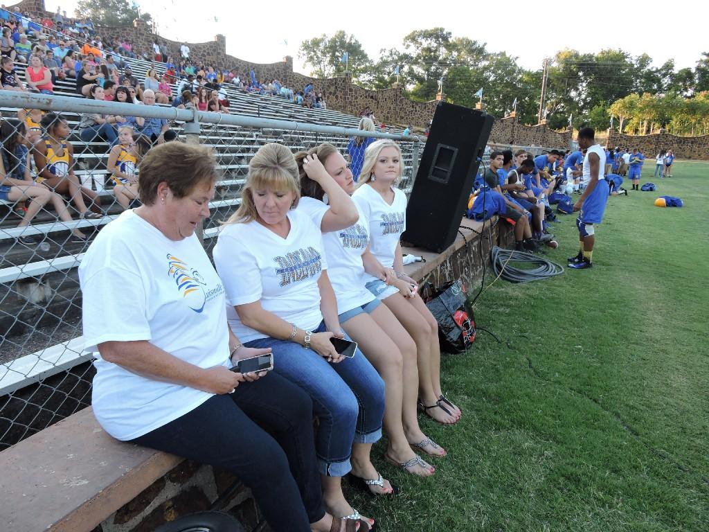 Deena Brand and Coleman family at Tomato Bowl