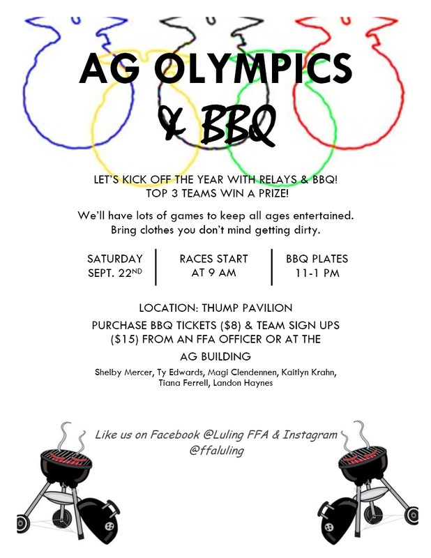 Ag Olympics & BBQ - Saturday, September 22, 2018 Thumbnail Image