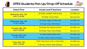 DPES Pick-up Schedule