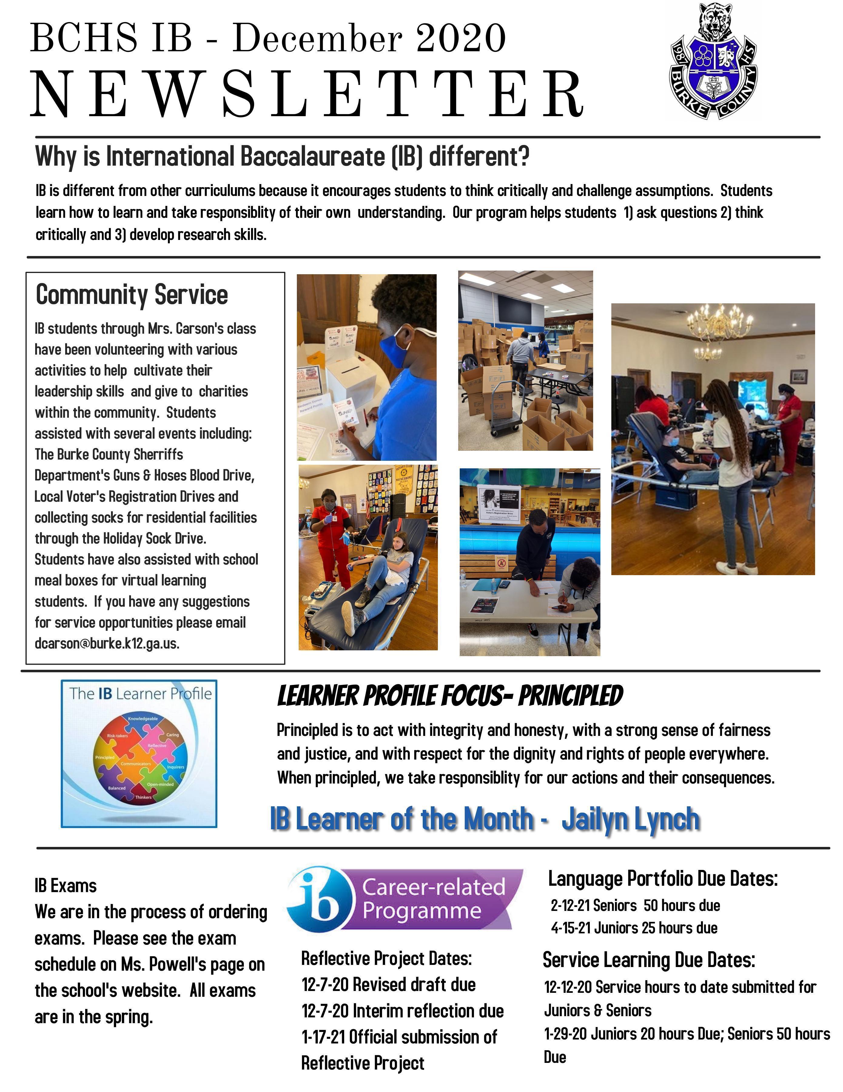 BCHS IB Newsletter
