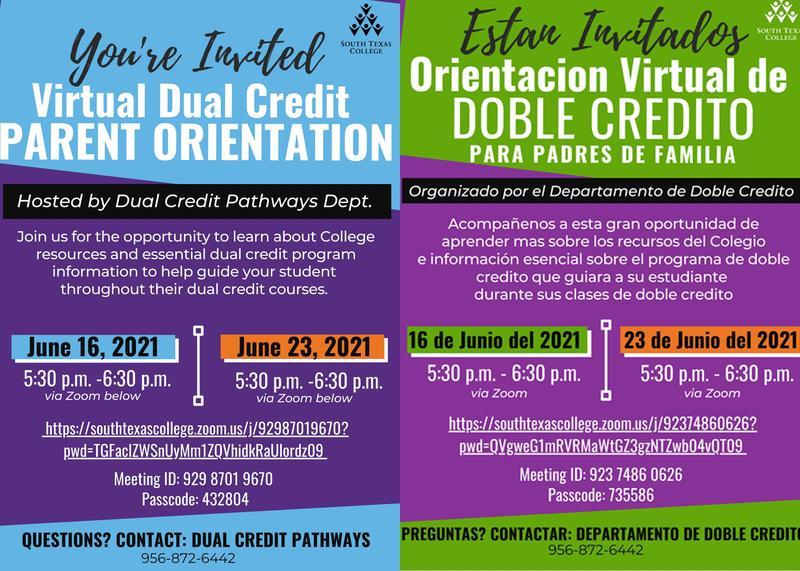 Virtual Dual Credit Parent Orientation Summer 2021 Featured Photo
