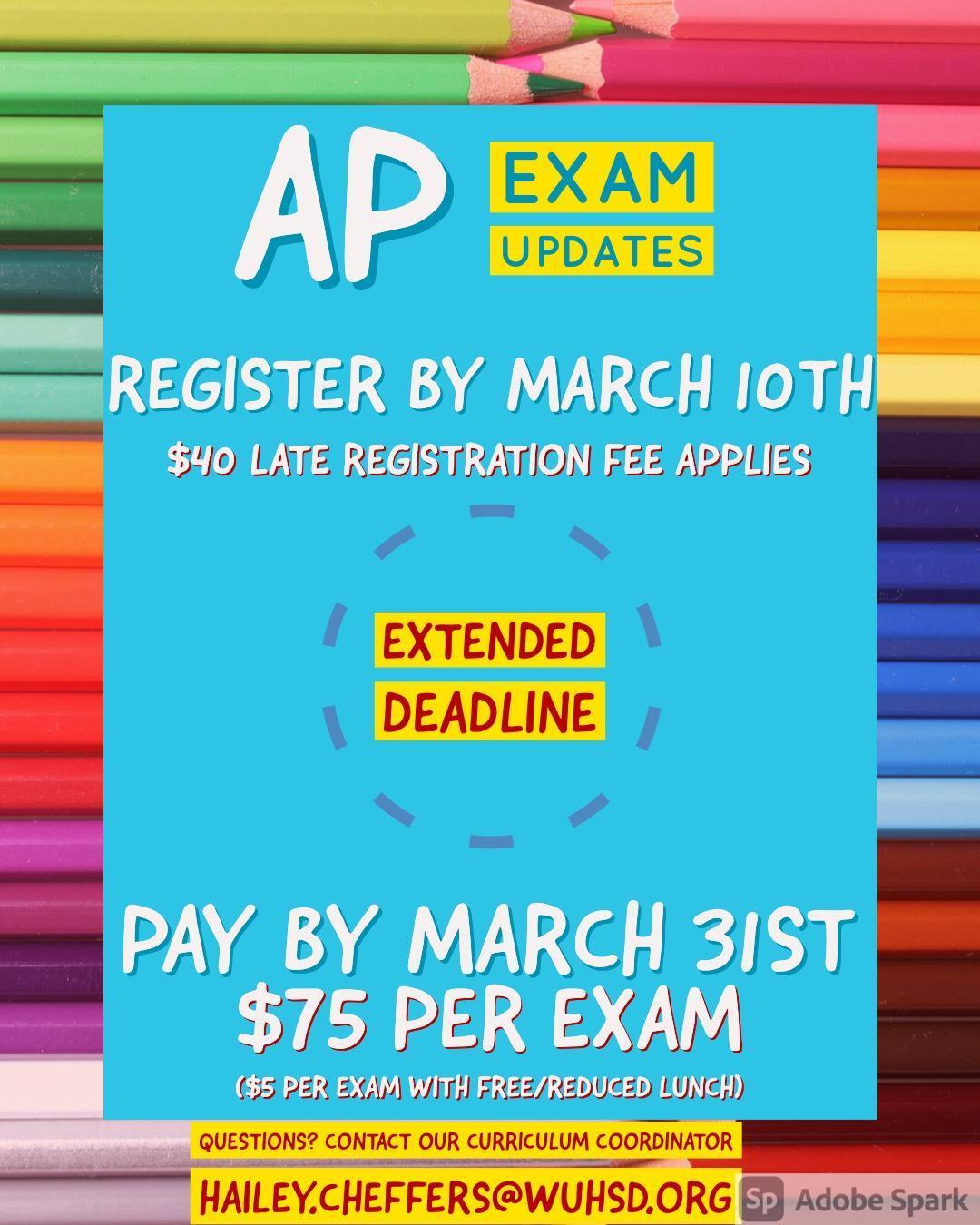 March 31 Payment Deadline