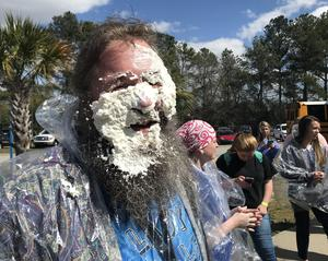 Throwing a pie in teachers' faces is just one of the ways to raise money for Camp Kemo