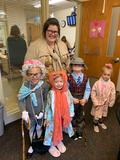 children dressed like older people for 100th day of school
