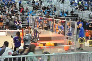 prospect high school robotics team competing in the FIRST Robotics Championship