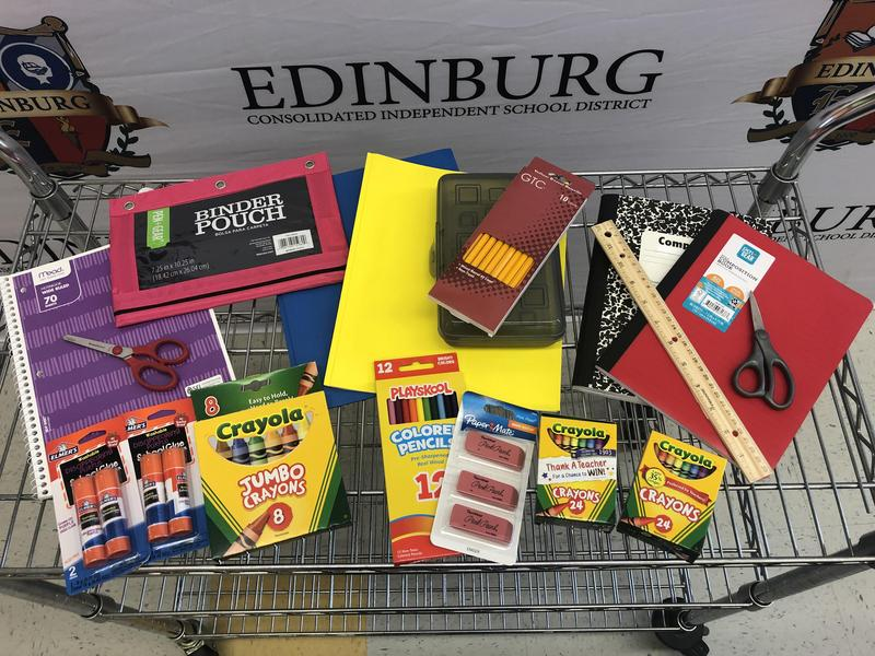 Edinburg CISD to provide school supplies to all registered students for the 2021-2022 school year.