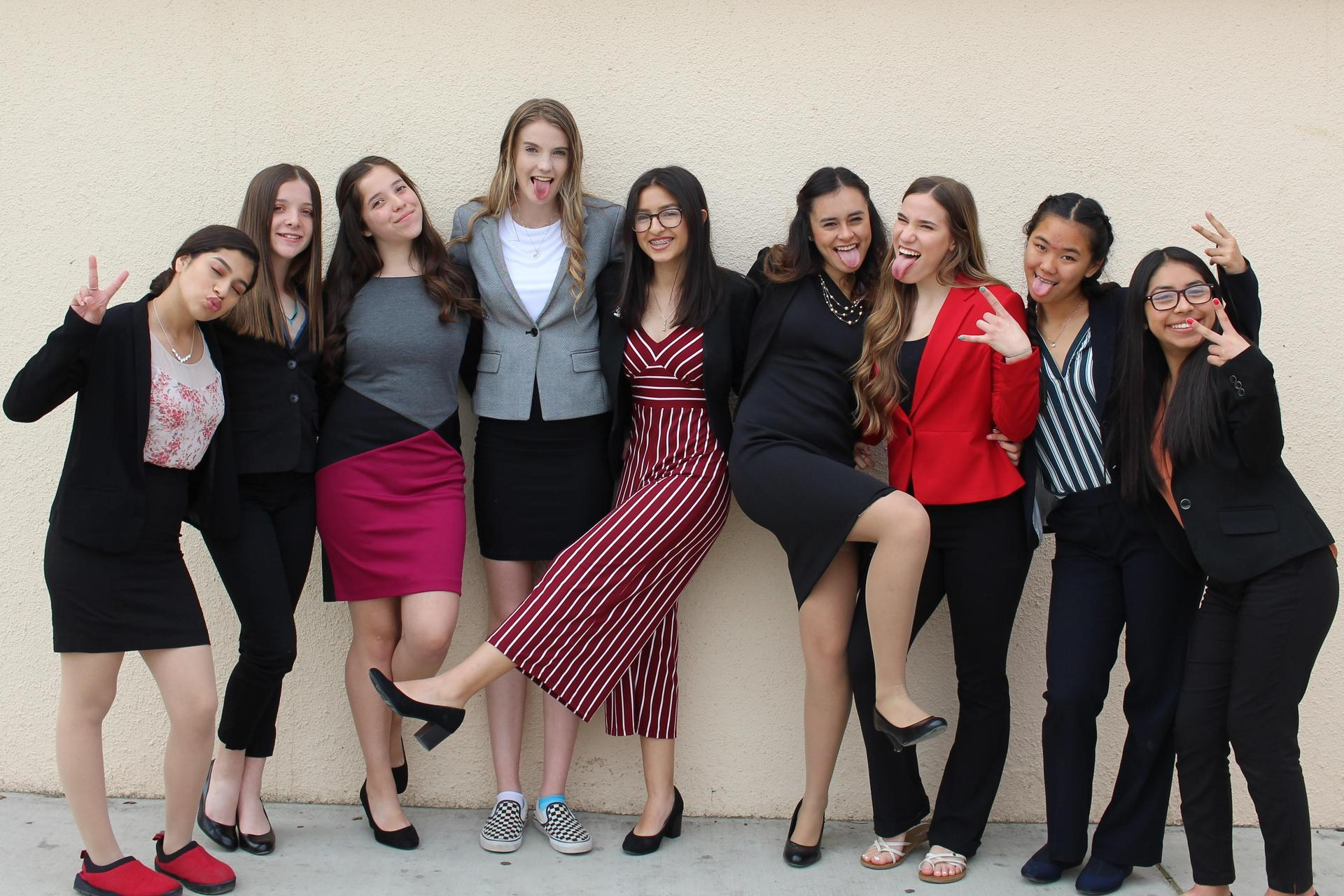 Students at Speech and Debate State Contest