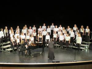The TKMS 7th-grade choir recieved high scores at festival recently to qualify to participate in state festival in May.