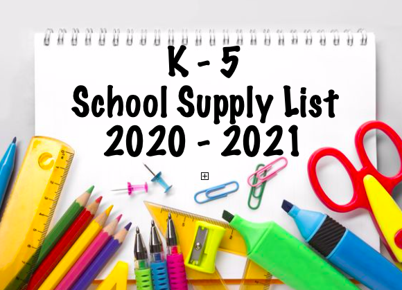 School Supply List 2020-2021 Thumbnail Image