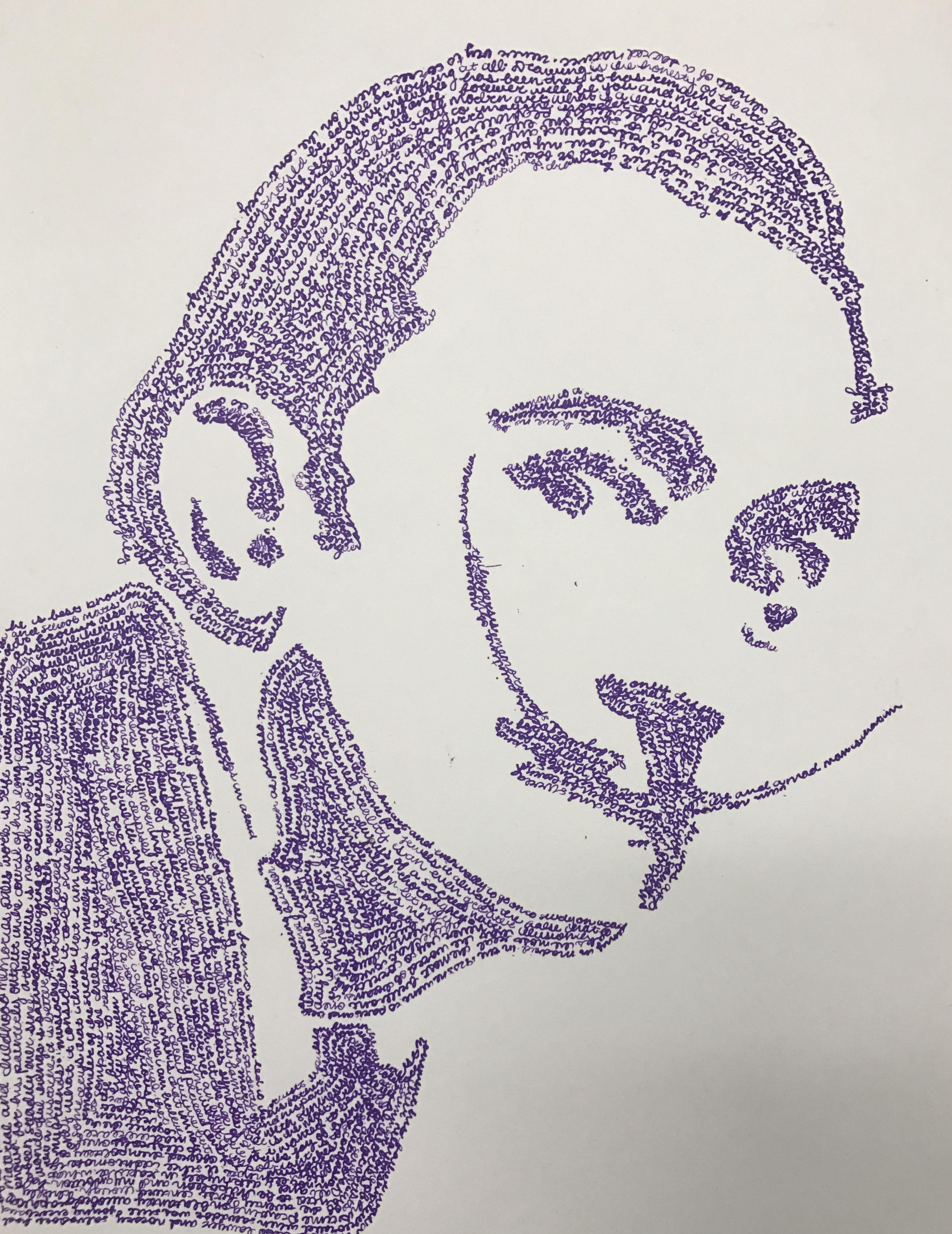 Word Portrait Student Art