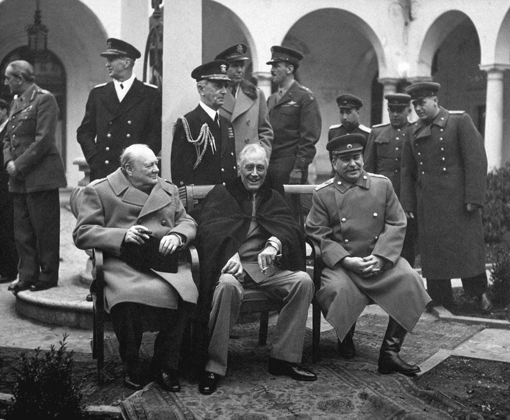 The Yalta Conference with churchill, Roosevelt and stalin