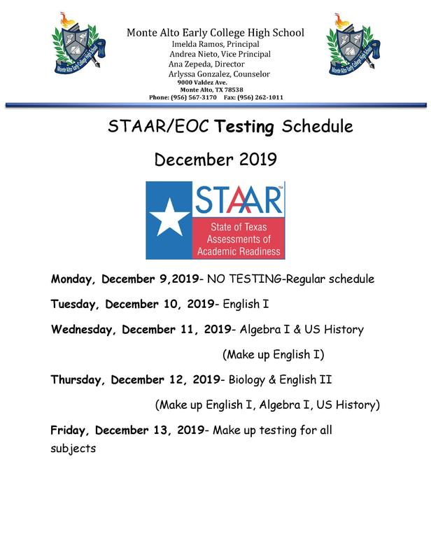STAAR/EOC Testing Schedule Featured Photo
