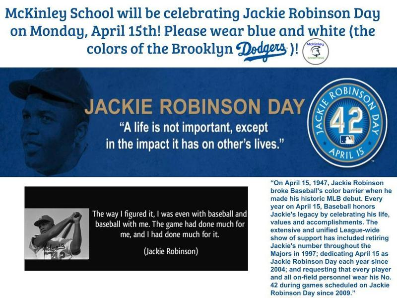 Jackie RObinson Day Flyer Blue and white day