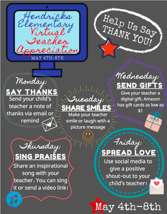 Hendricks Virtual Teacher Appreciation