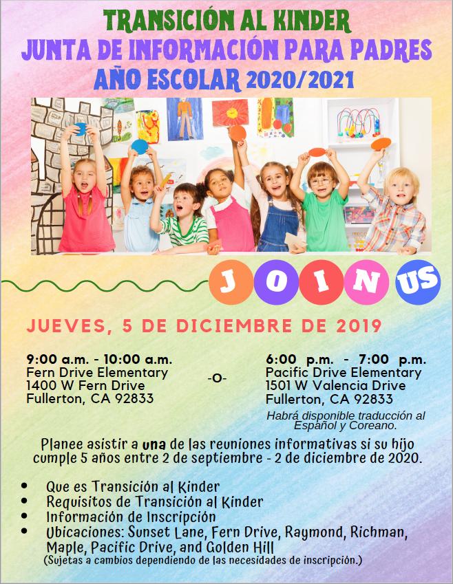 TK Parent Meeting Flyer- Spanish