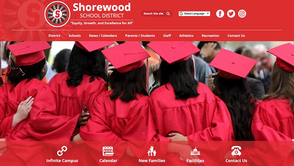 Shorewood School District website design