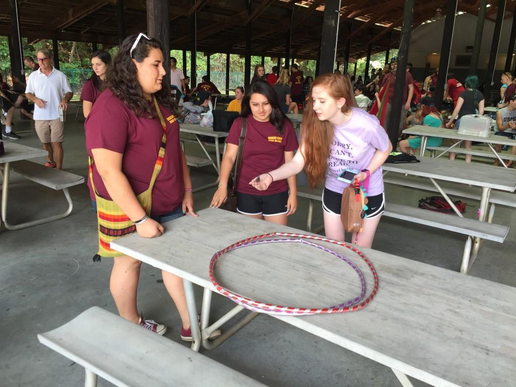 Gathering of students at 2015 annual field trip