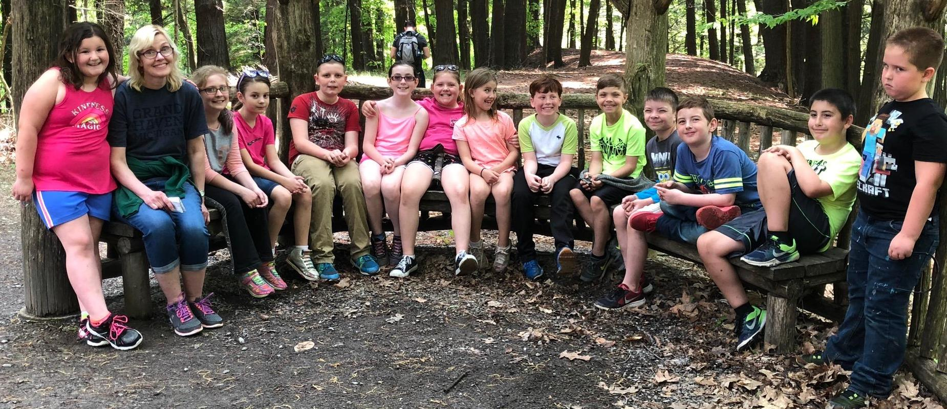 3rd graders visit Letchworth Park on WIlliam Letchworth's birthday.
