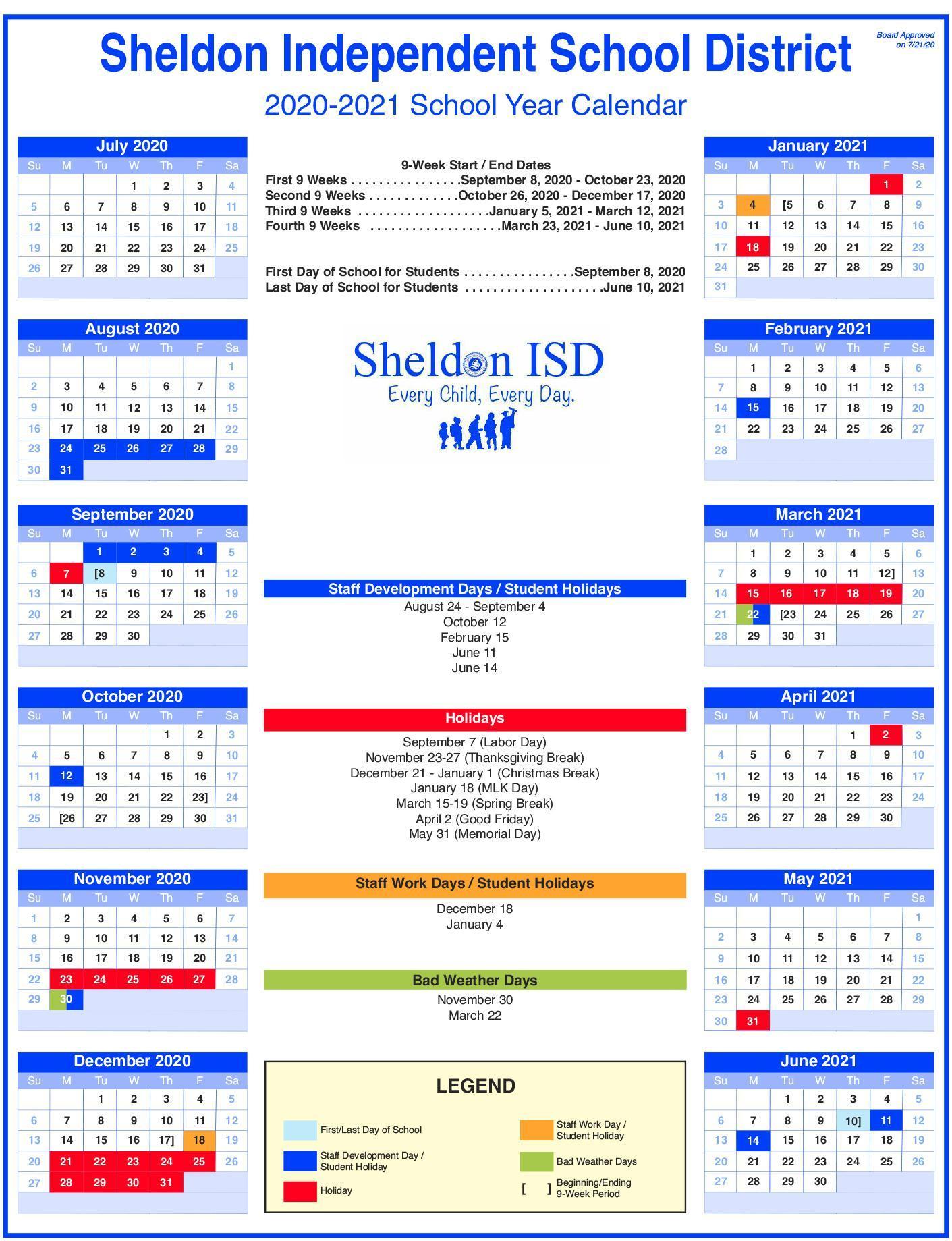 board_approved_sheldon_isd_2020_2021_school_year_calendar_as_of_072120