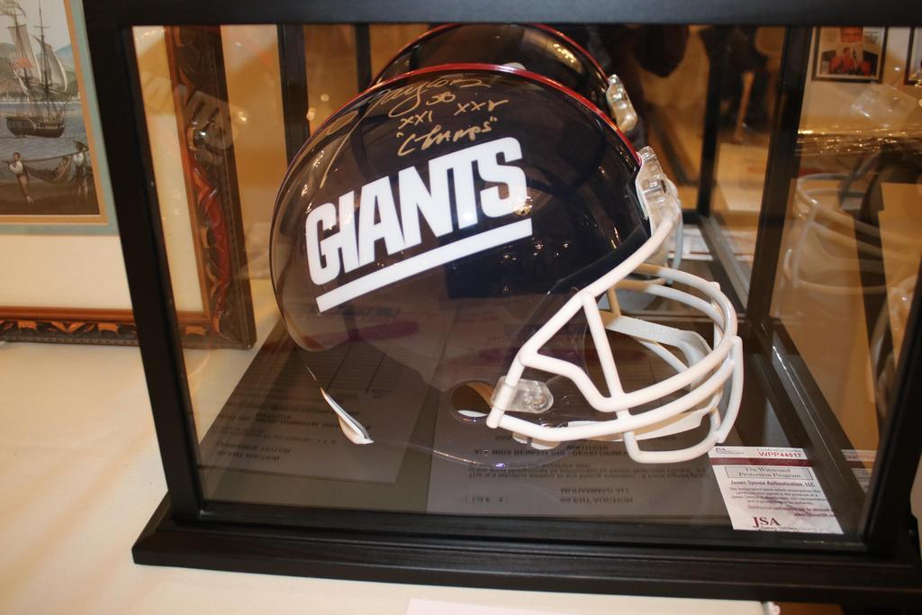 Raffle prize (Giants football helmet) at the 2018 Stars Gala