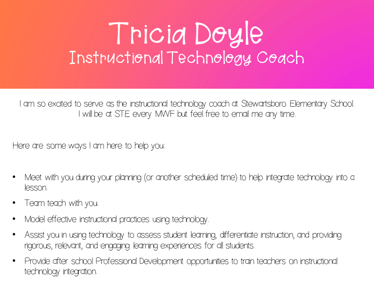 Tricia Doyle - Instructional Technology Coach