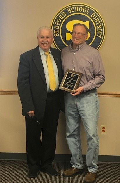 Russ Neal Presented 2019-2020 Friend of Seaford Education Award Featured Photo