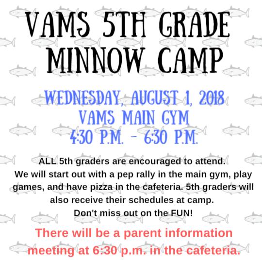 VAMS 5th Grade Minnow Camp Thumbnail Image