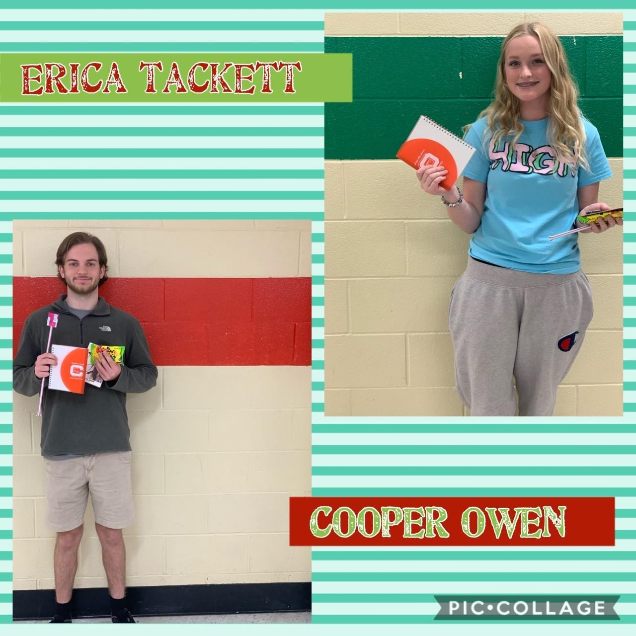STUDENTS OF THE WEEK 1/13/2020