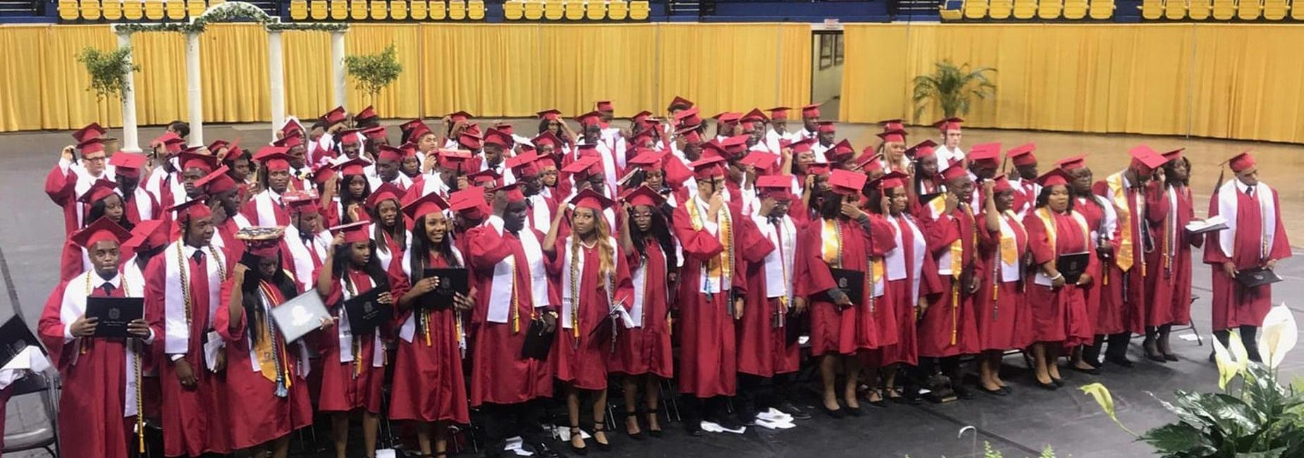 A group photo of the Baker High School Class of 2019 @ Southern University Graduation Ceremony