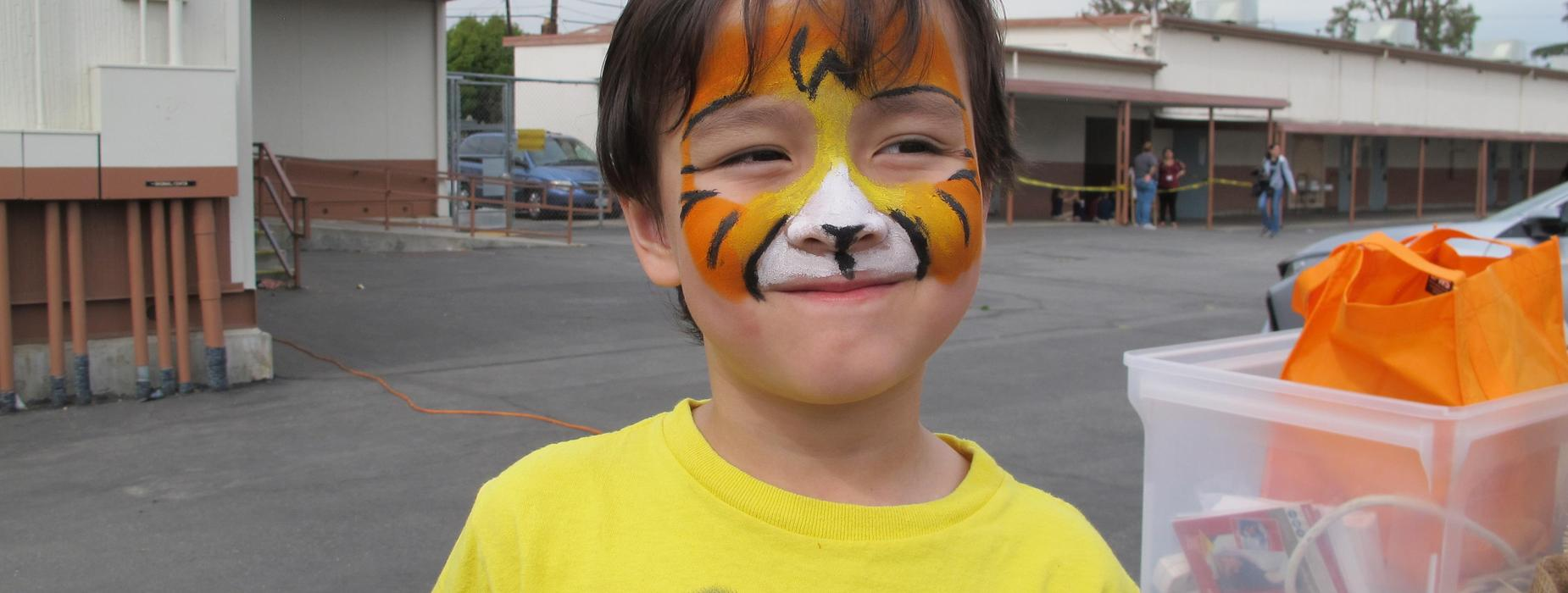 Marguerita students get their face painted