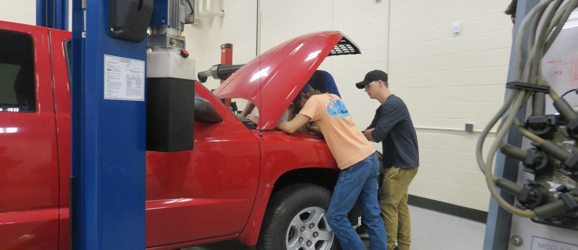 The Automotive students can fix anything!