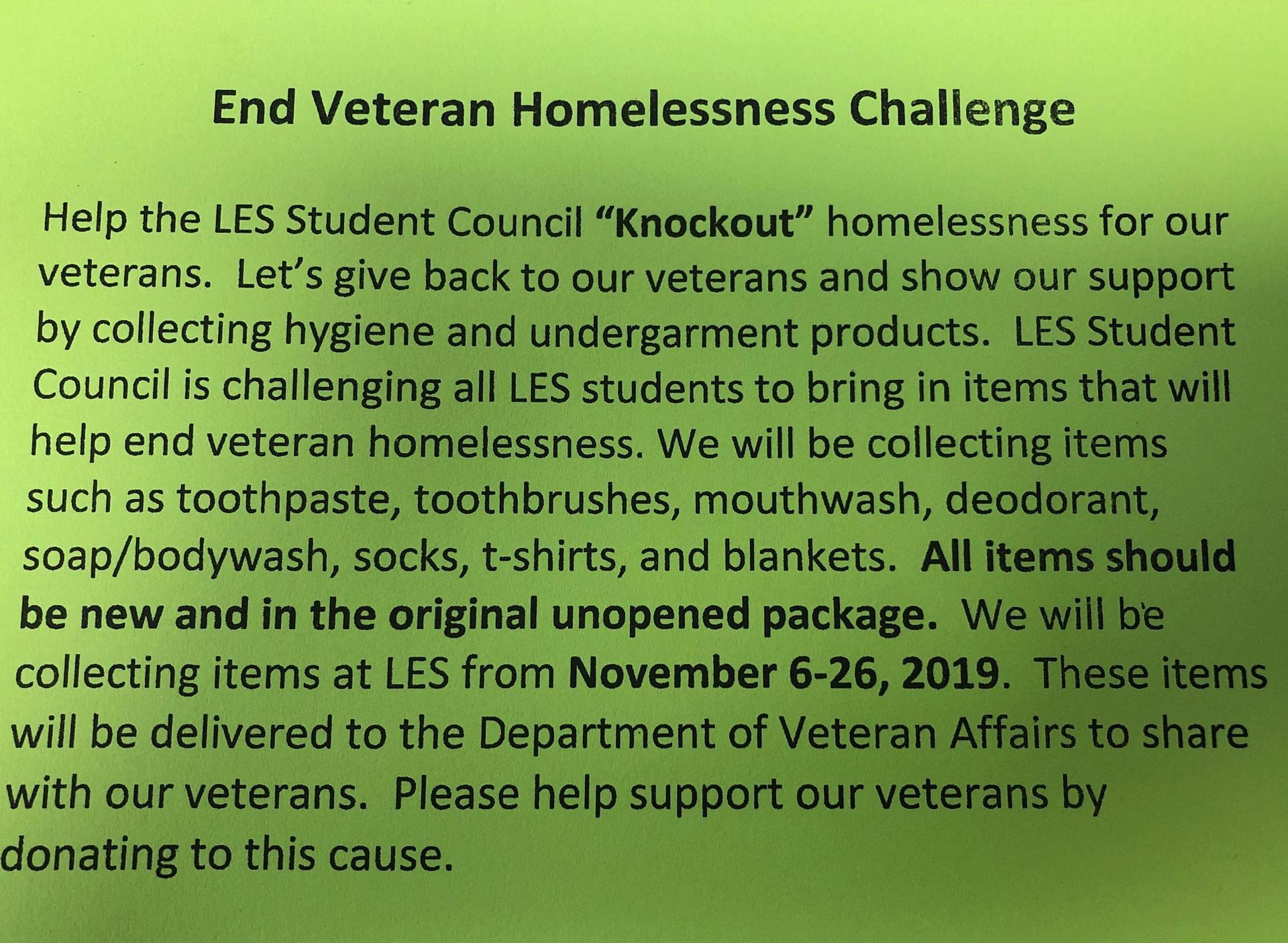 End Veteran Homelessness