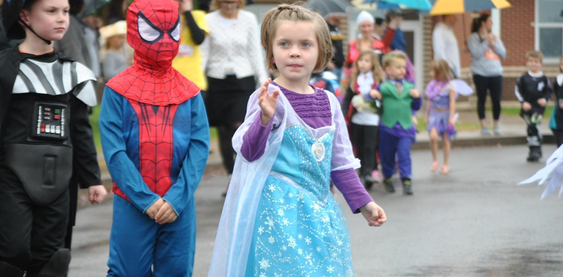 Kids at Halloween Parade