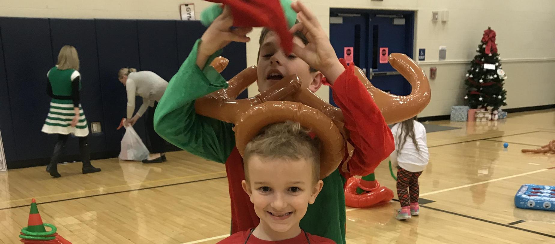 children having fun at North Pole Spectacular