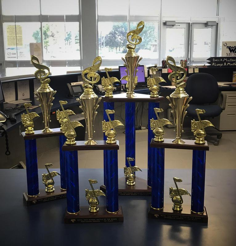 MP3 Band trophies