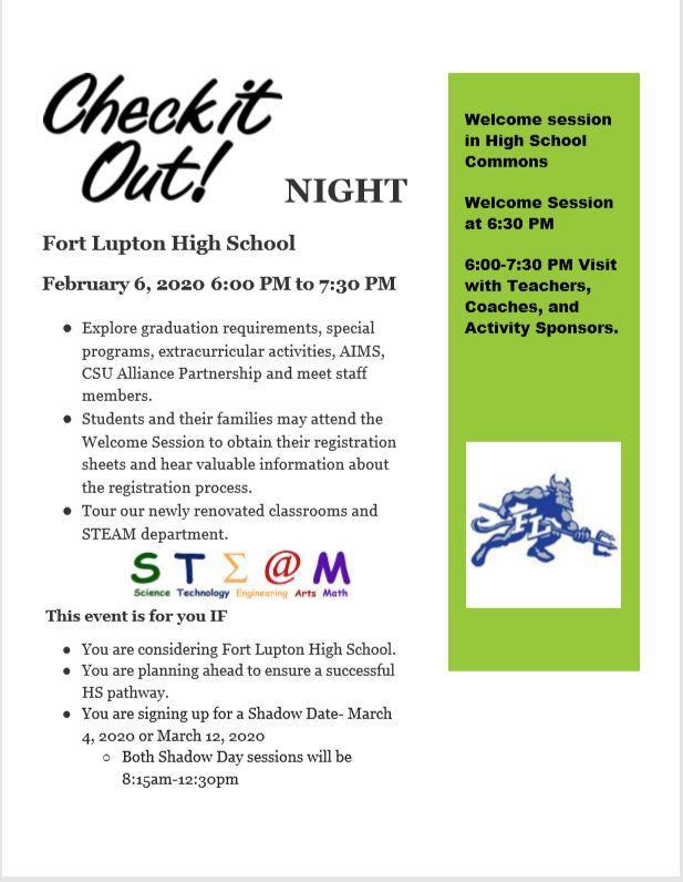 FLHS Check it Out English Flier