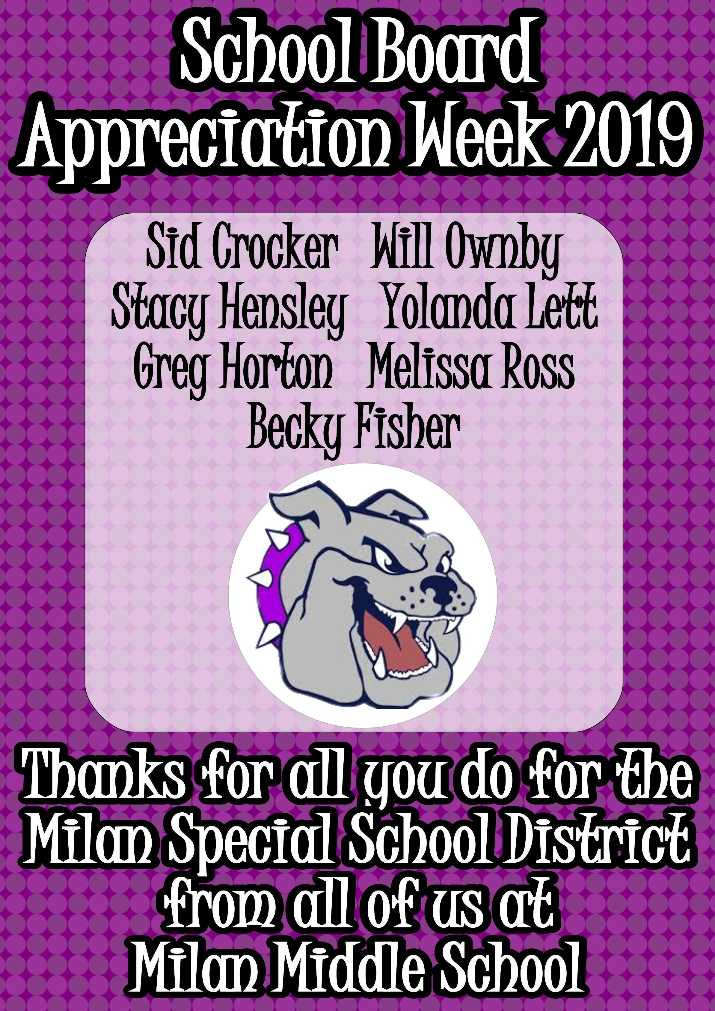 School Board Appreciation Week 2019