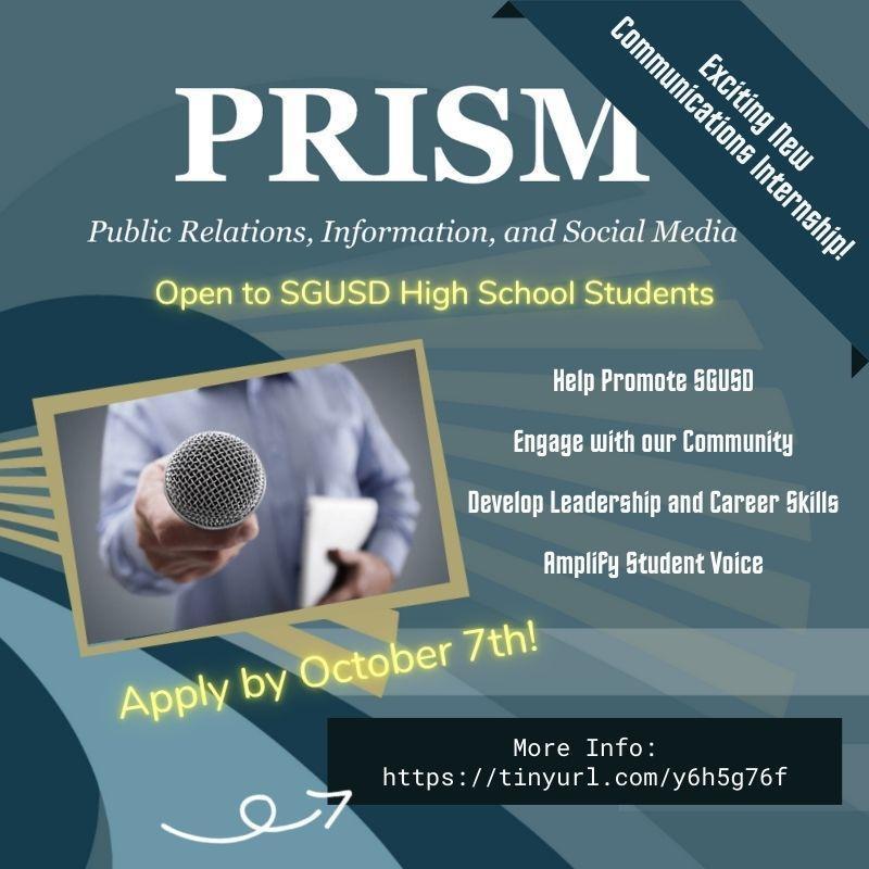 PRISM flyer