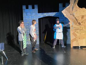 Three BART Students dressed as Knights