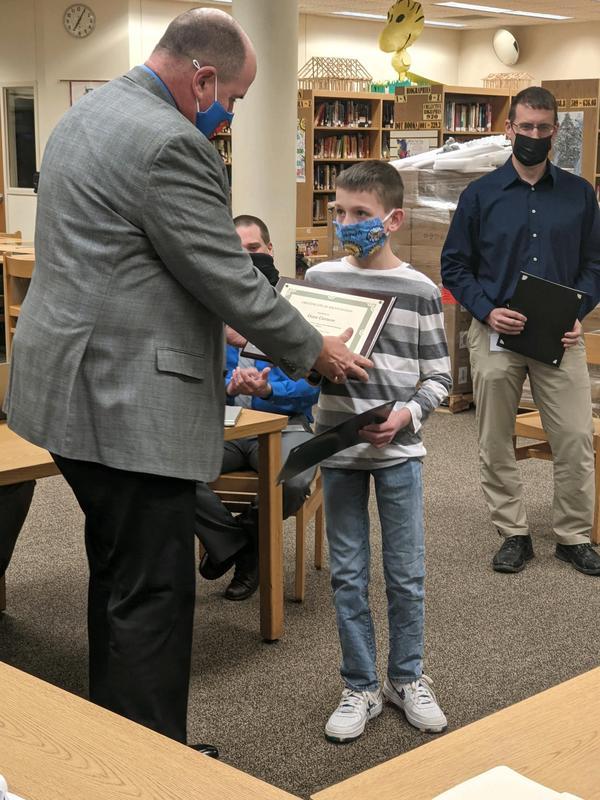 image receiving an award