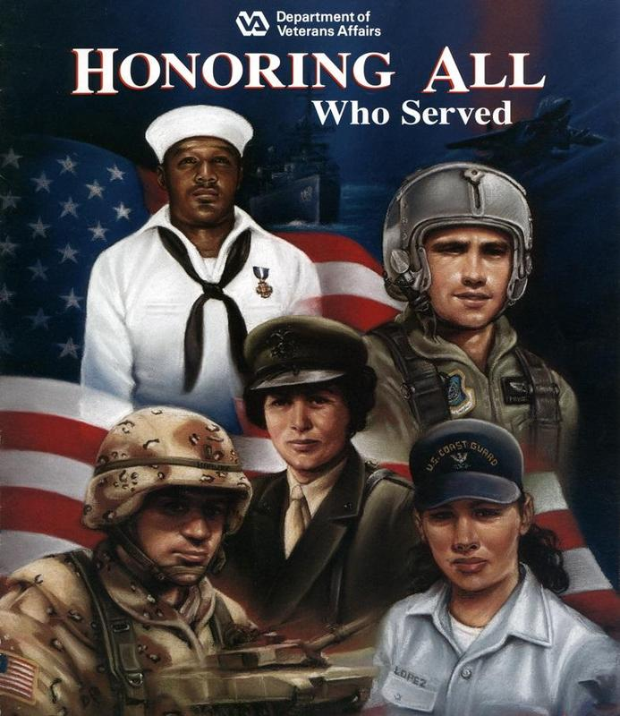 Veteran's Day Poster Honoring All Who Served