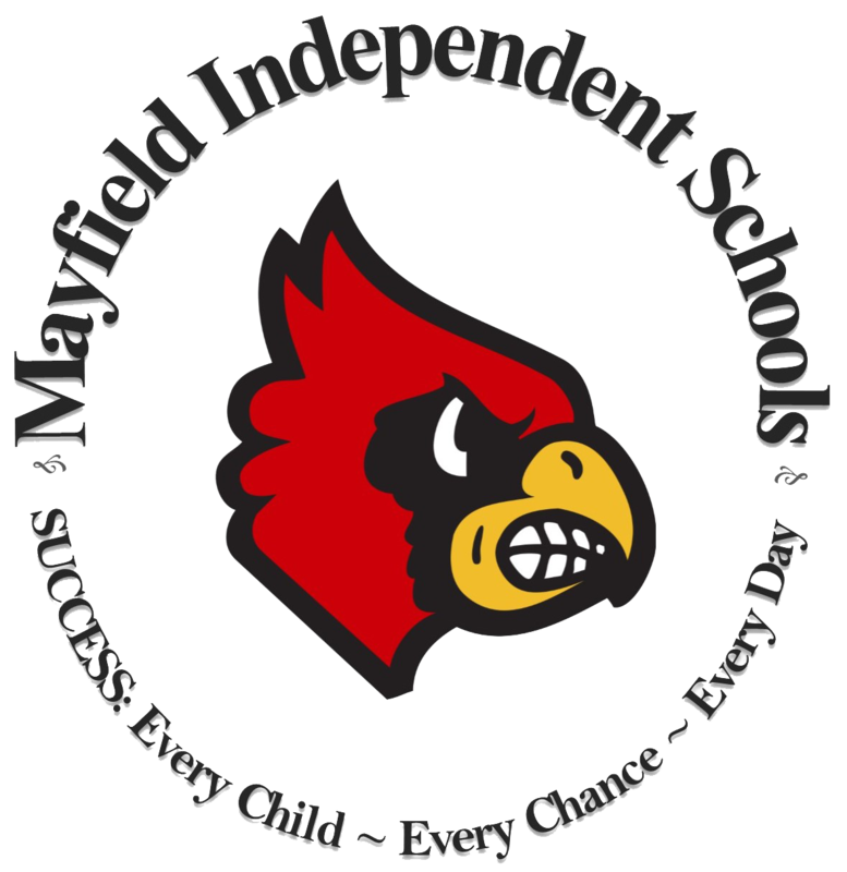 Mayfield Independent Schools Cardinal Logo: Success - Every Child, Every Chance, Every Day