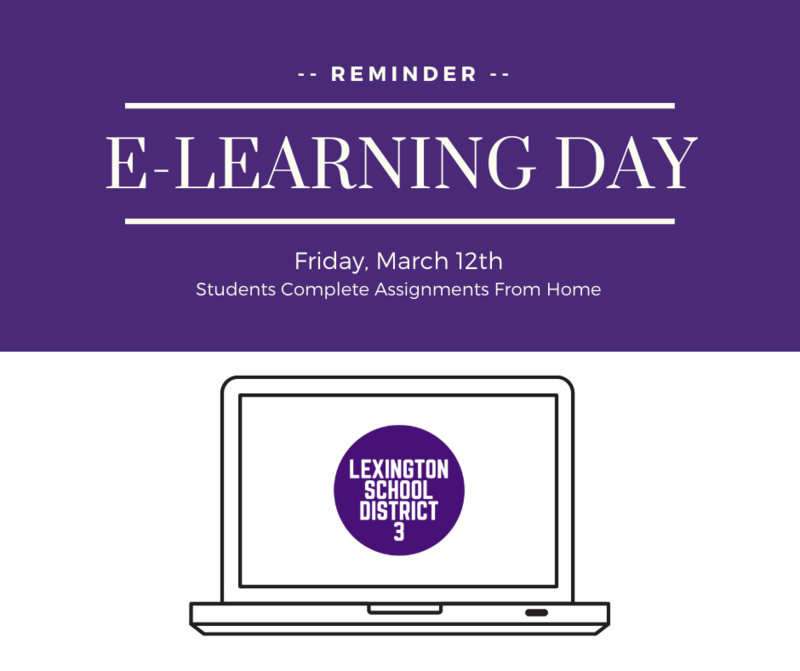 Friday, March 12th Is An E-Learning Day