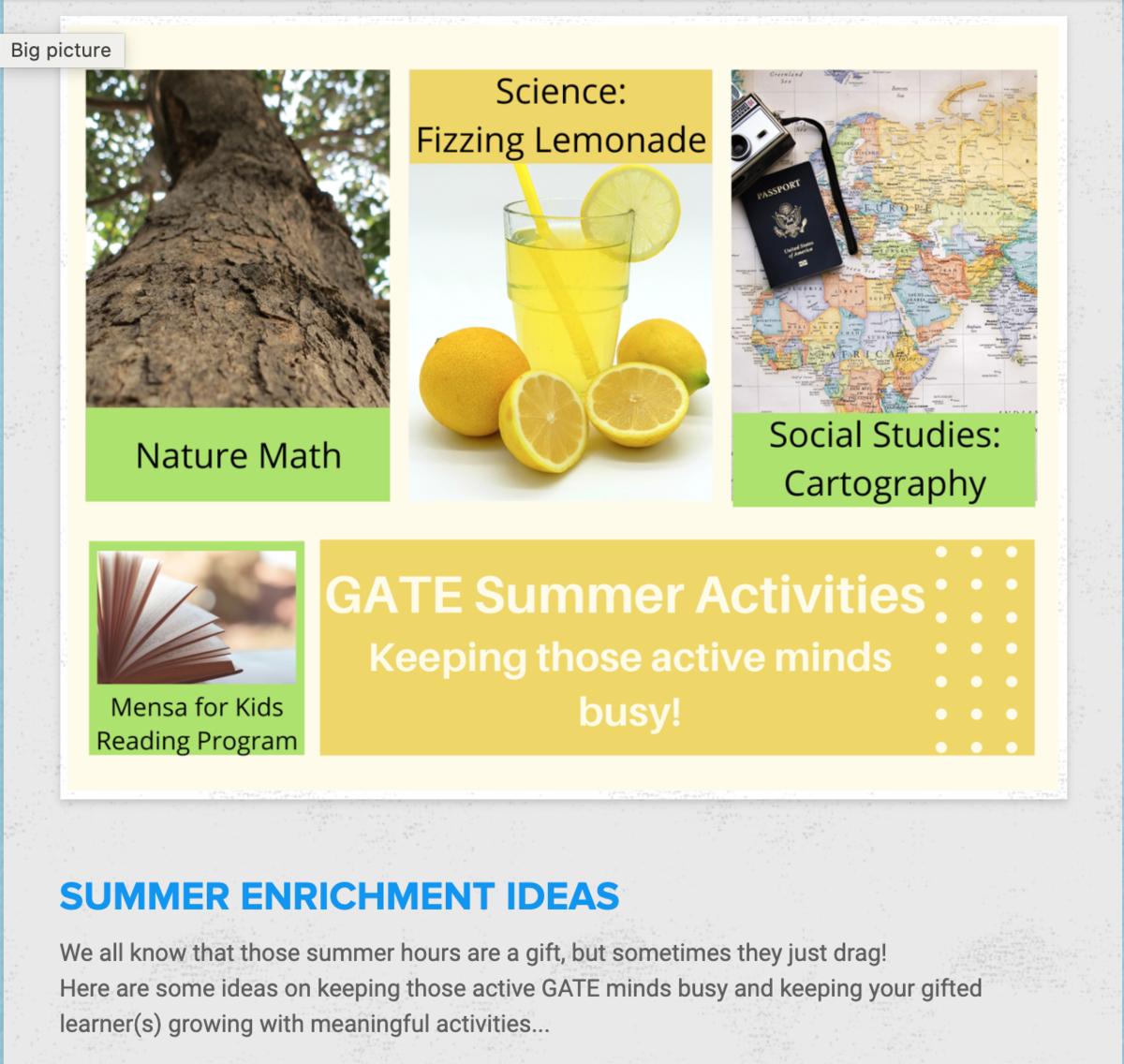 GATE Summer Learning
