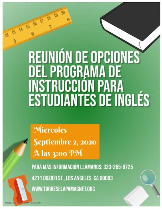 ENGLISH LEARNERS INSTRUCTIONAL PROGRAM OPTIONS MEETING-CLICK HERE Featured Photo