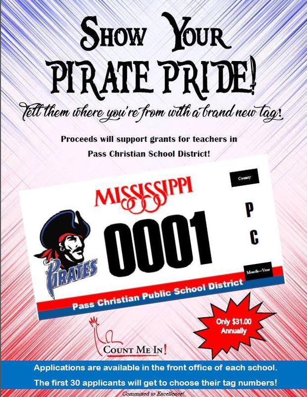 Car Tag Application - Show your Pirate Pride!